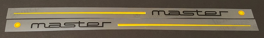 Colnago Stay Decals - 1 Pair - Yellow/Orange stripes - Choose Color