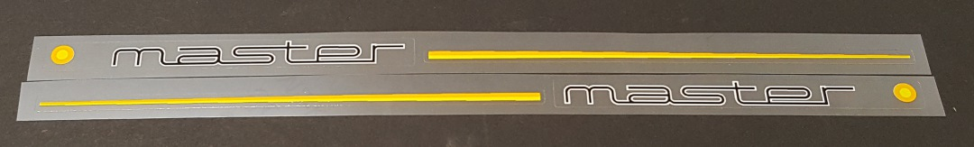 Colnago Stay Decals - 1 Pair - Yellow/Orange stripes - Choose Colors