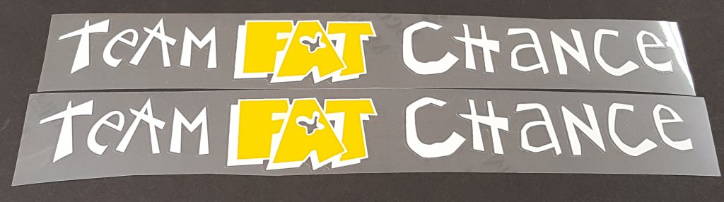 Fat Chance Team Fat Chance Down Tube Decals - 1 Pair - Choose Colors