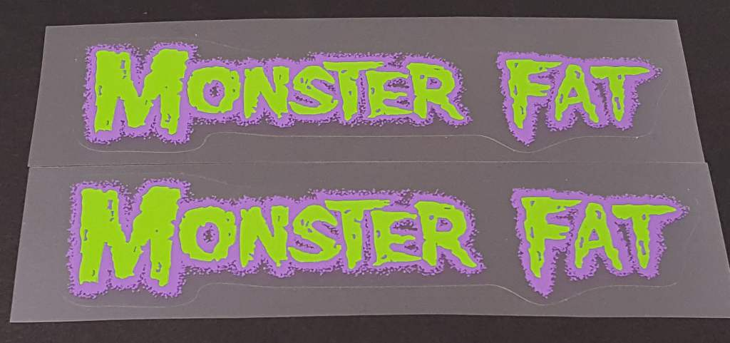 Fat Chance Monster Fat Down Tube Decals - 1 Pair - Choose Colors