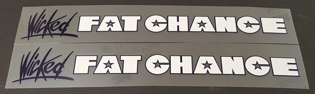 Fat Chance Wicked Down Tube Decals - 1 Pair - Choose Colors