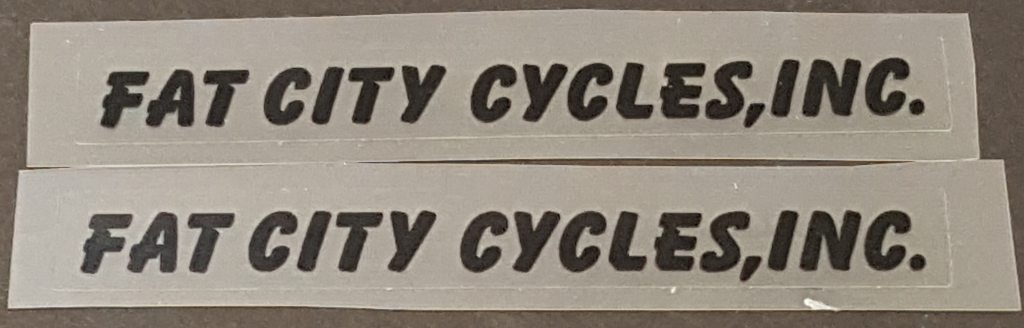 Fat Chance Fat City Cycles Stay Decals - 1 Pair - Choose Color