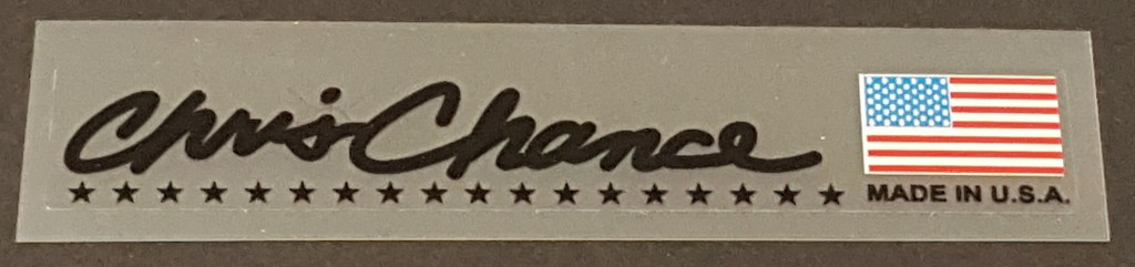 Fat Chance Signature Stay Decal - Black