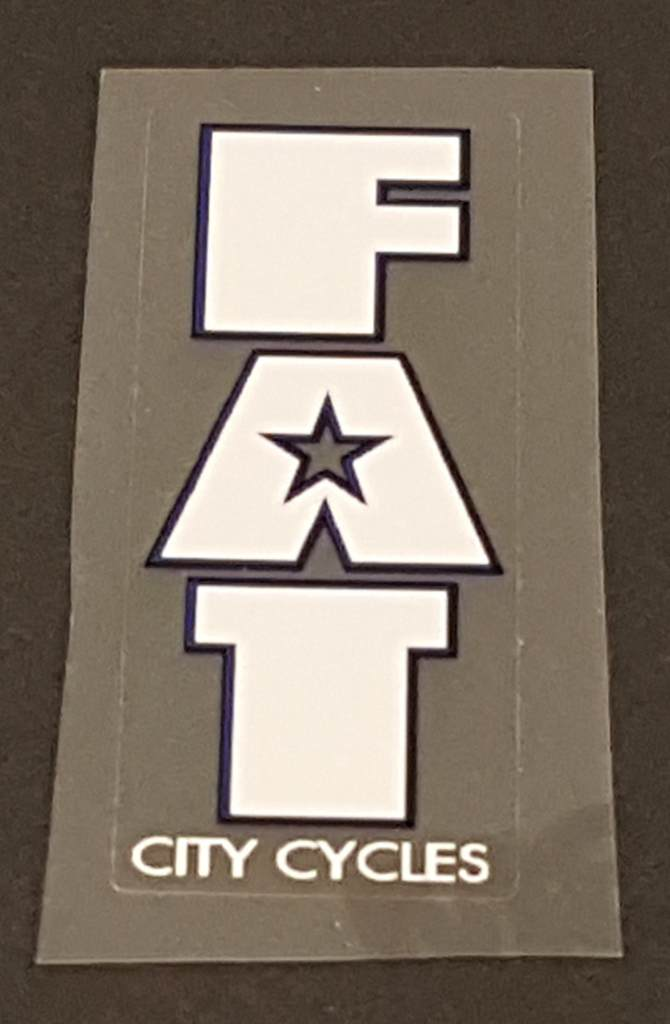 Fat Chance Fat City Cycles Head/Seat Tube Badge Decal - Choose Colors