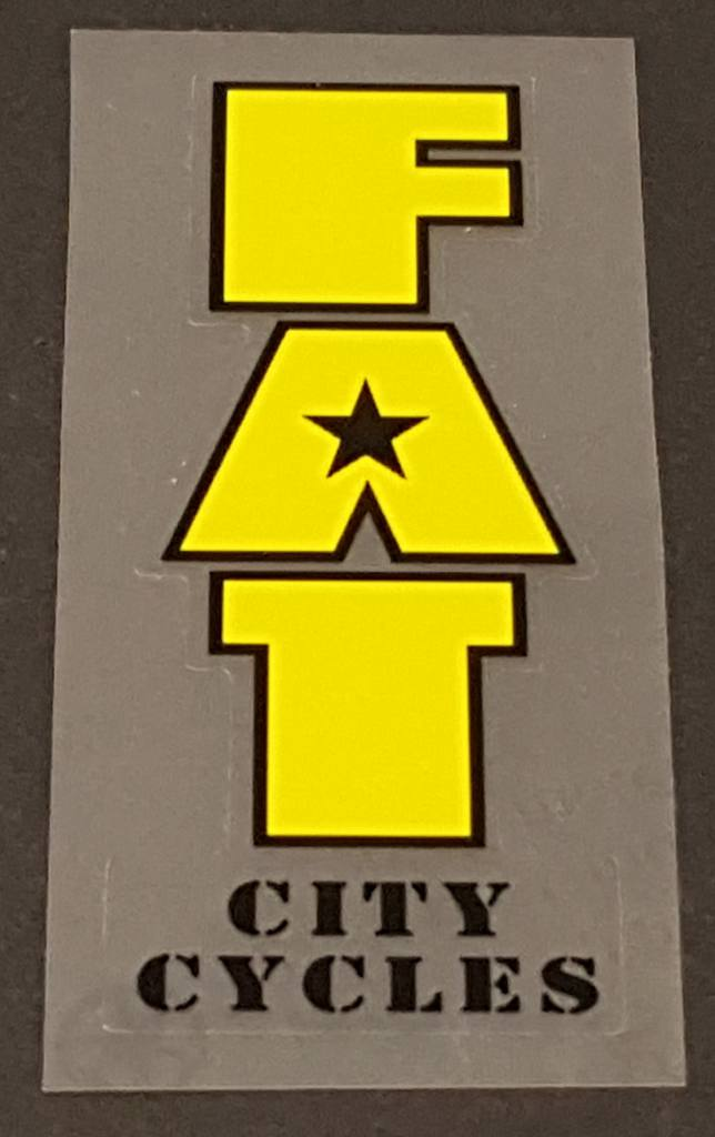 Fat Chance Fat City Cycles Head/Seat Tube Badge Decal - Choose Main Color
