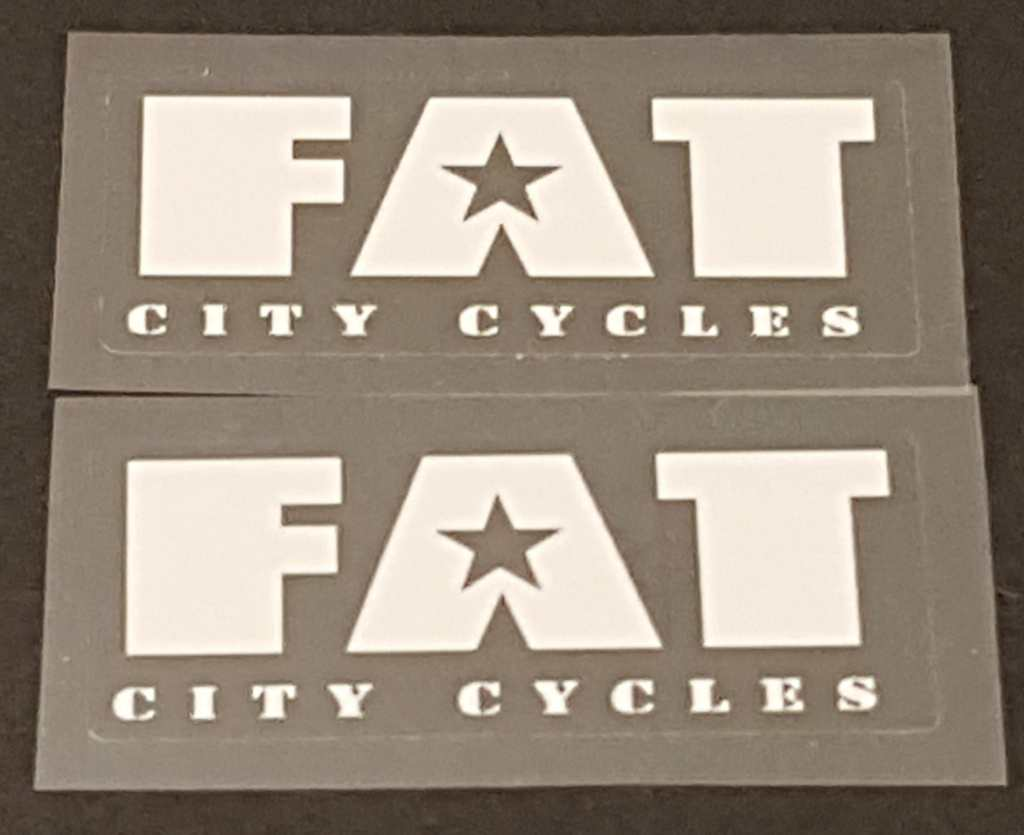 Fat Chance Fat City Cycles Badge Decal - 1 Pair - Choose Color
