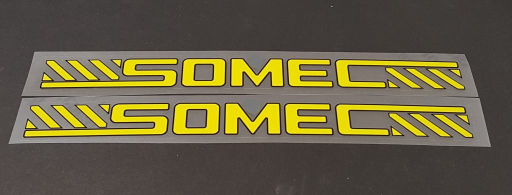Somec 1980s Down Tube Decals - 1 Pair - Choose Color