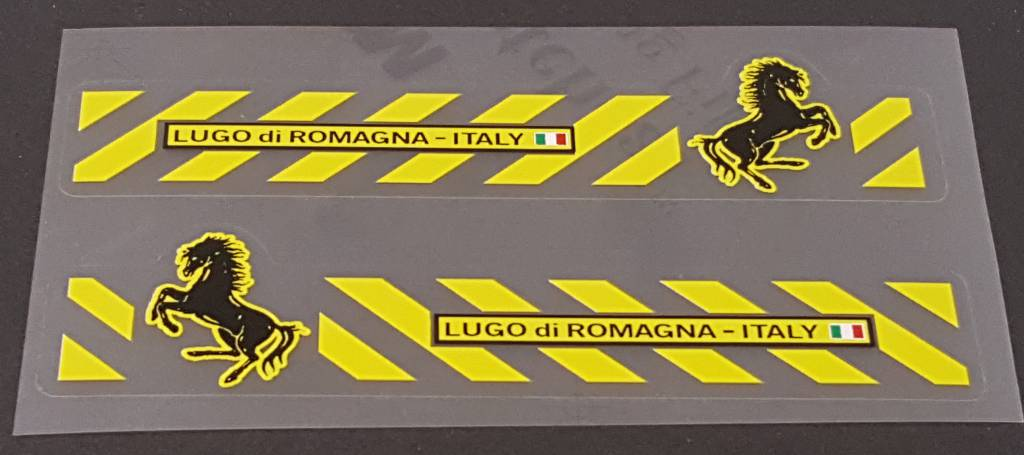Somec Lugo di Romagna Top Tube Decals - 1 Pair - Choose Main Color