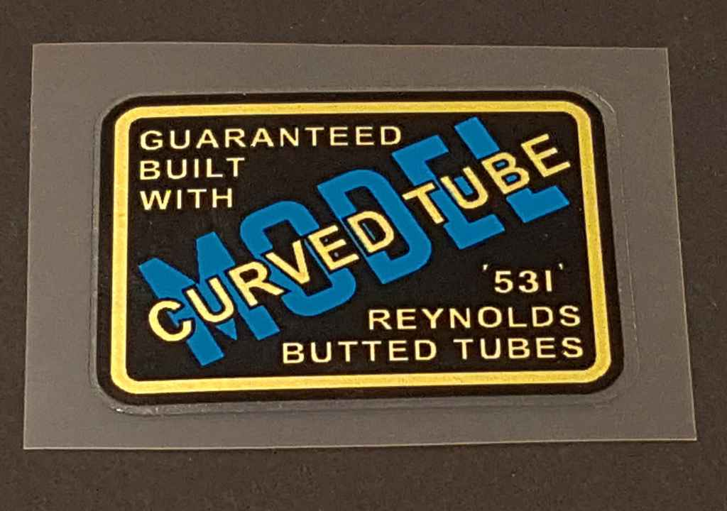 Jack Taylor Reynolds Tubing Decal - Curved