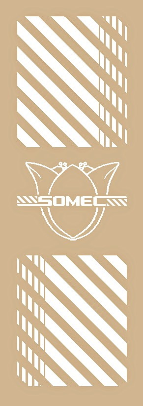 Somec Seat Tube Decal - Choose Color