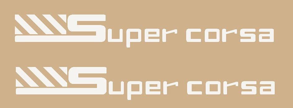 Somec Super Corsa Stay Decals - 1 Pair - Choose Color