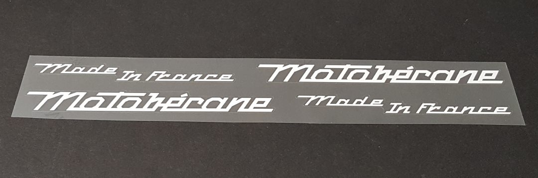 Motobecane Script Down Tube Decals - 1 Pair - Choose Color