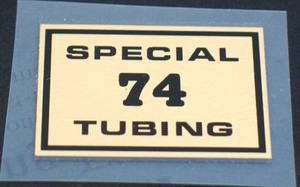 Special 74 Tubing Decal (sku 1047)