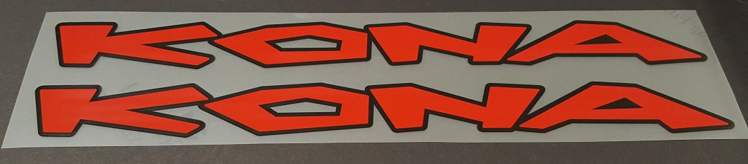 Kona late 1990s Down Tube Decals - 1 Pair - Choose Colors