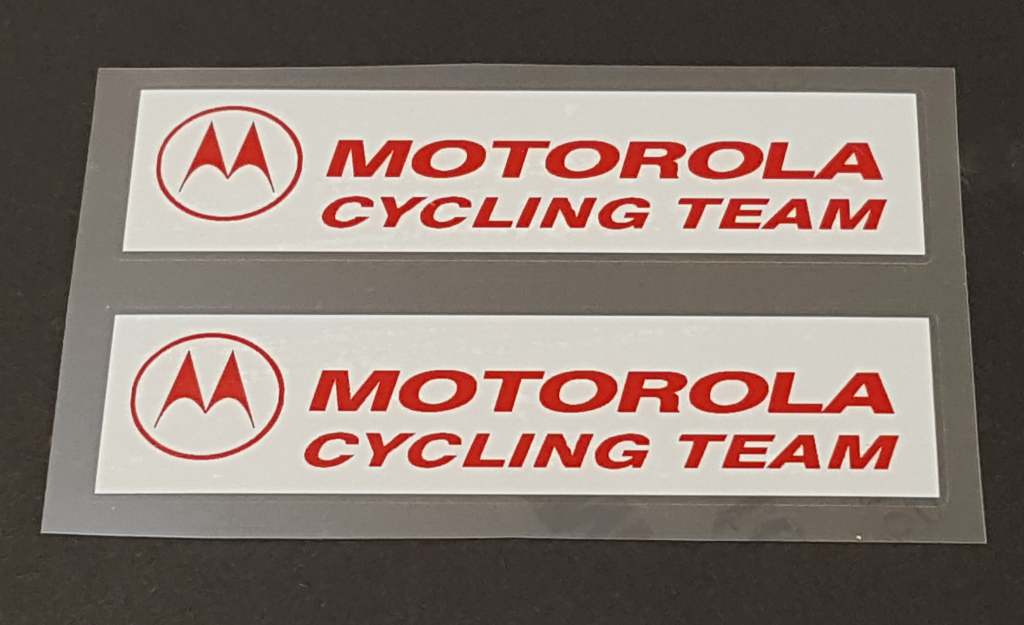 Eddy Merckx Motorola Cycling Team Top Tube Decals - 1 Pair