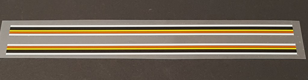 Eddy Merckx Extra Long Belgium Stripes Decals - 1 Pair