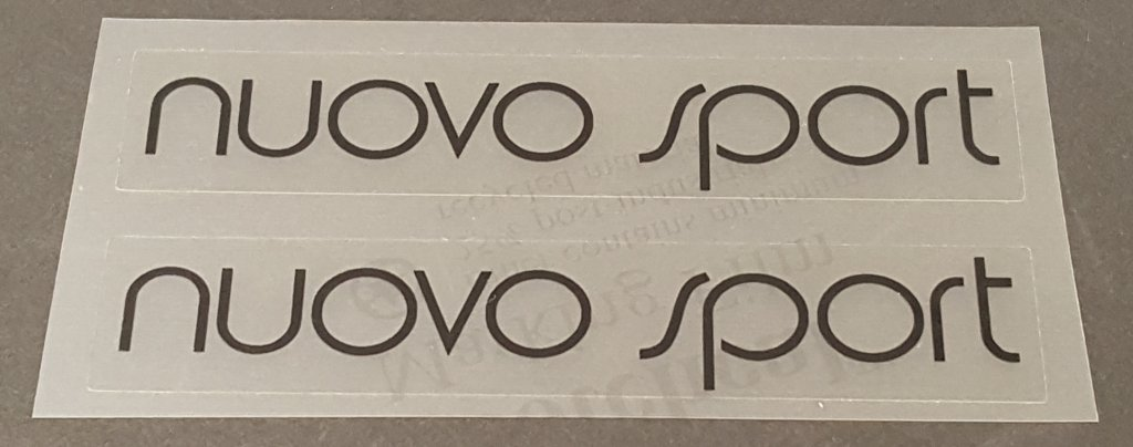 Univega Nuovo Sport Top Tube Decals - 1 Pair - Choose Color