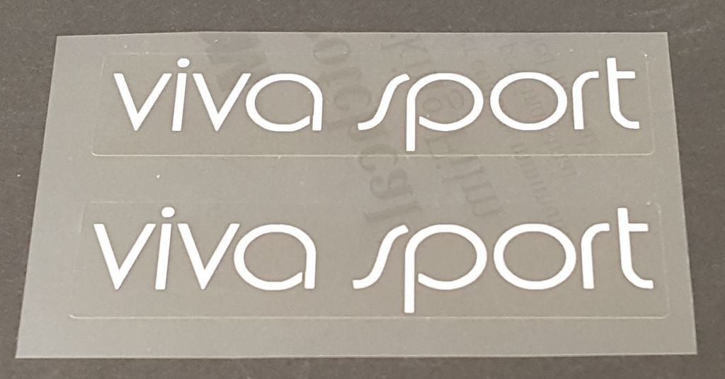 Univega Viva Sport Top Tube Decals - 1 Pair - Choose Color