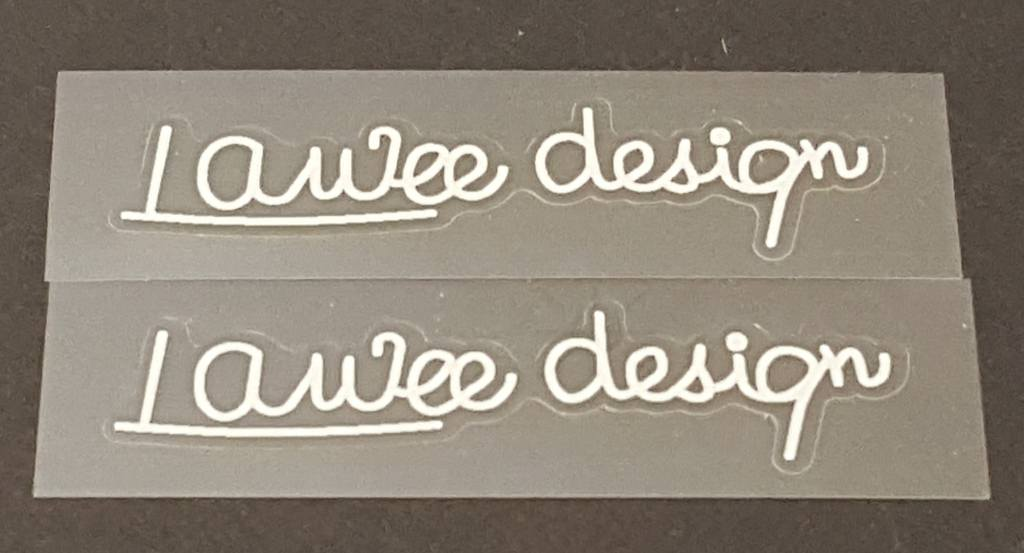 Univega  Lawee Design Signature Decals - 1 Pair - Choose Color