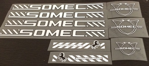Somec Bicycle Decal Set - White