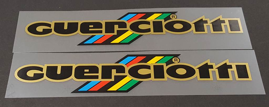 Guerciotti Down Tube Decals - 1 Pair - Choose Colors