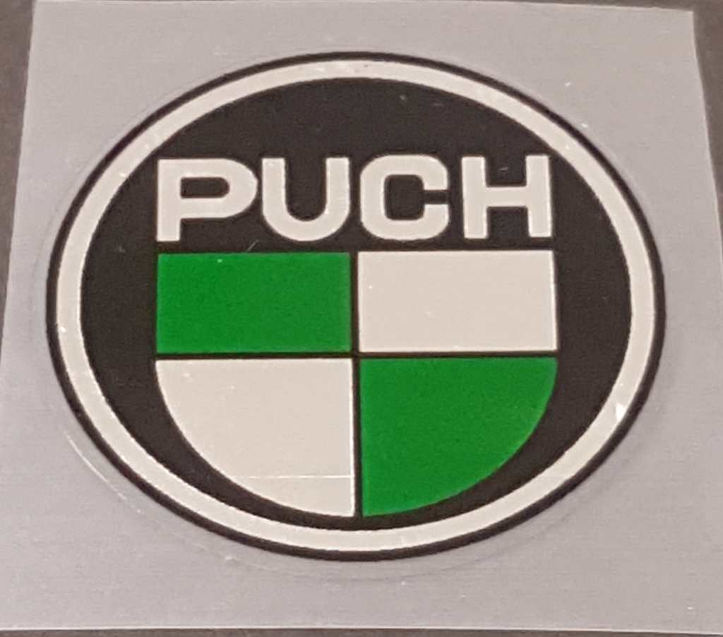 Puch Head badge Decal with Chrome