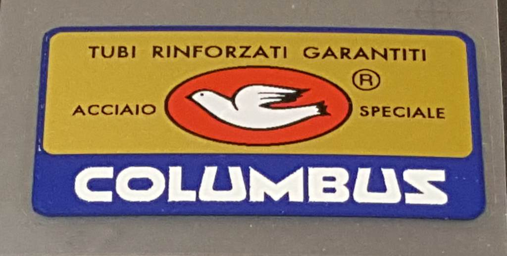 Columbus Acciaio Speciale Frame Decal - Sapphire Border