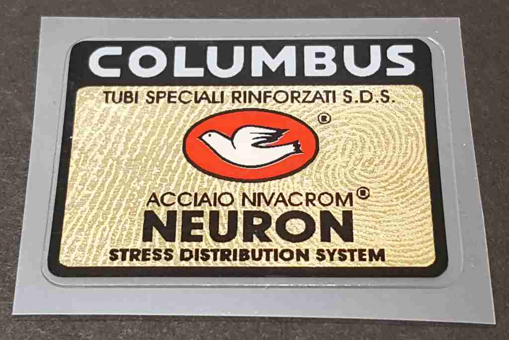 Columbus Neuron Frame Decal - Gold