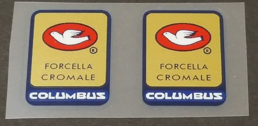 Columbus Cromale Fork Tubing Decals - 1 Pair - Sapphire Border