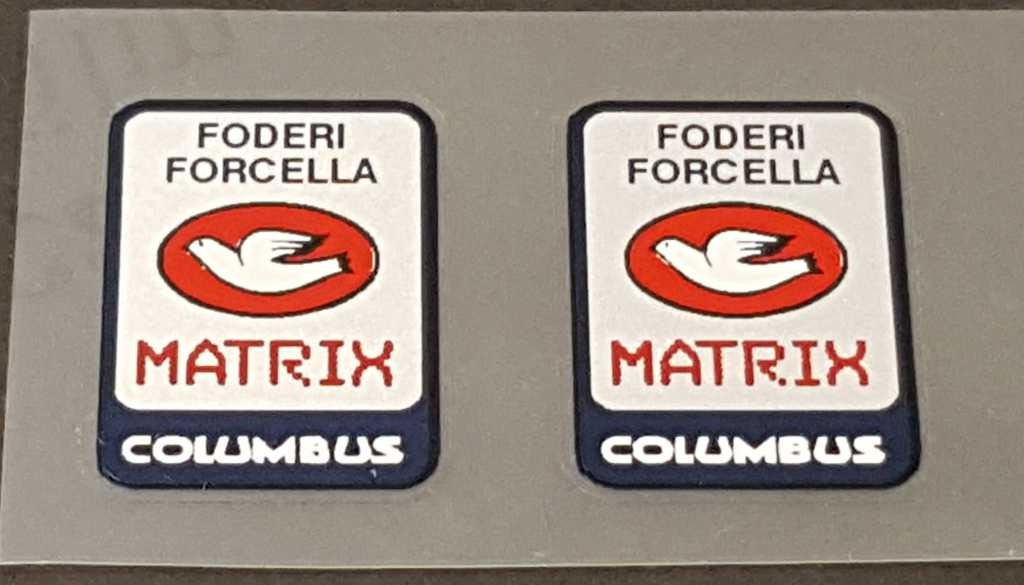 Columbus Matrix Fork Tubing Decals - 1 Pair