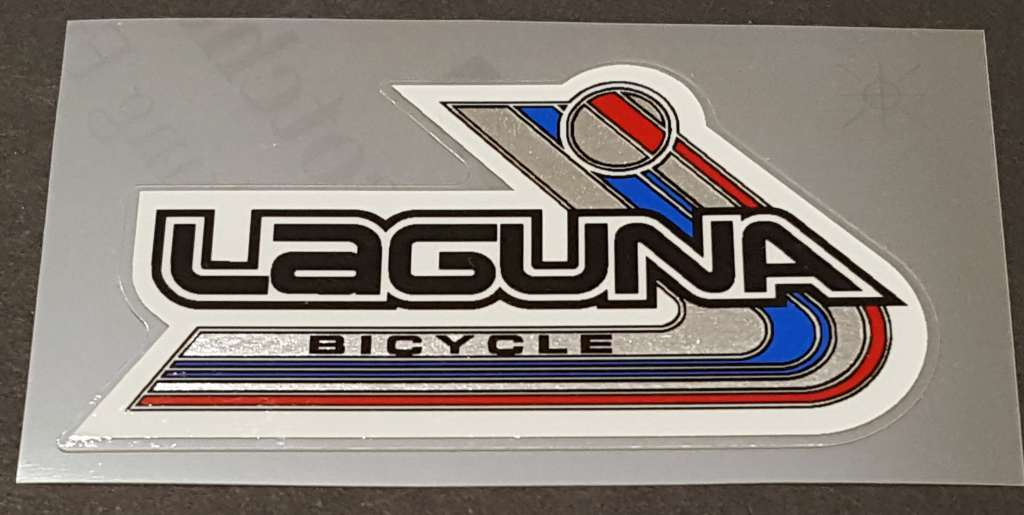 Laguna Cruiser Seat Tube Decal with Chrome - Red/Blue