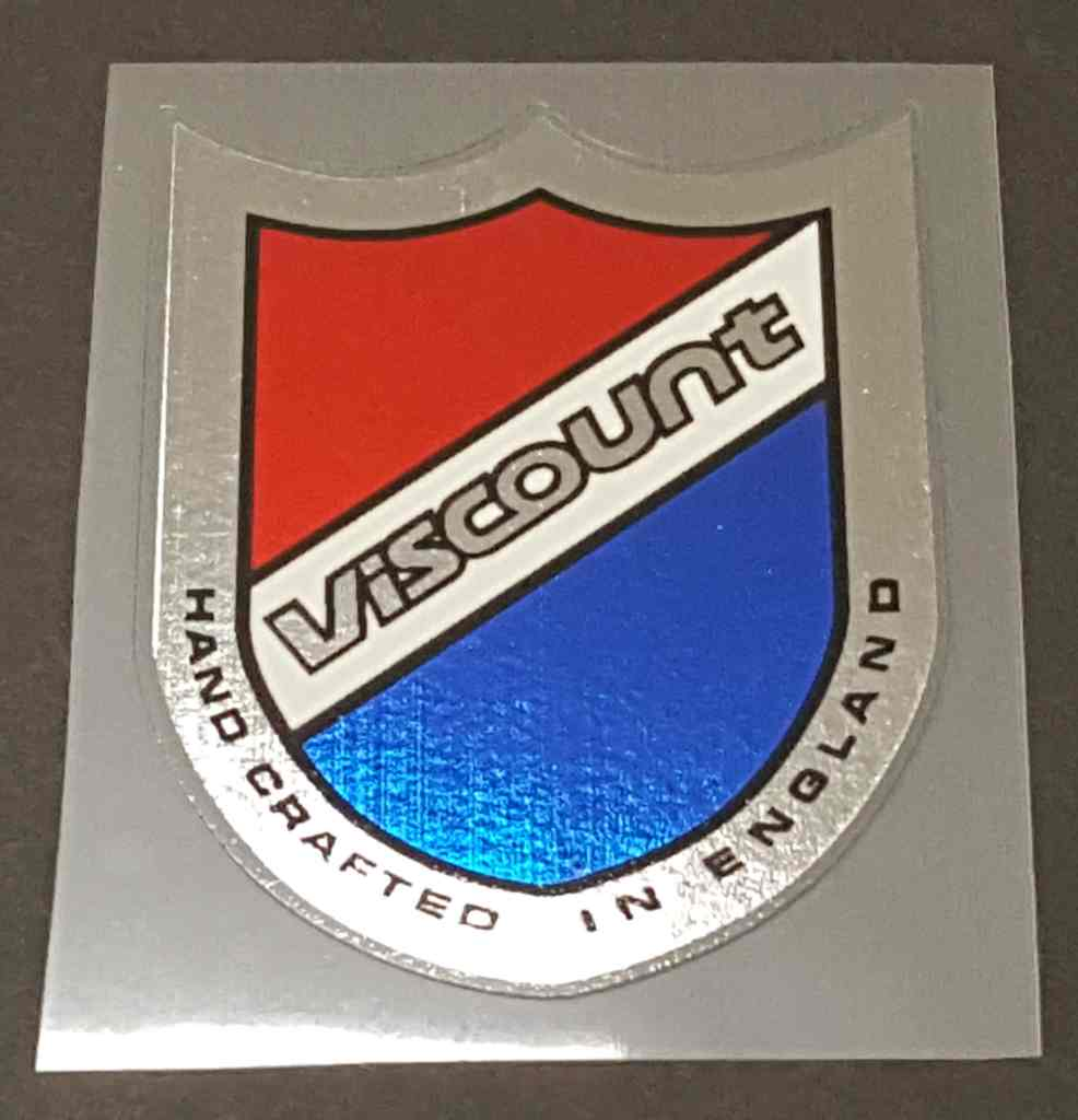 Viscount Head Badge Decal with Chrome Border