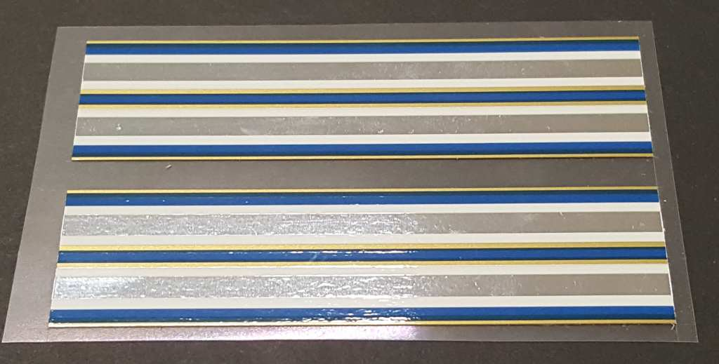 Viscount Chrome Bands - Blue/Gold - 1 Pair