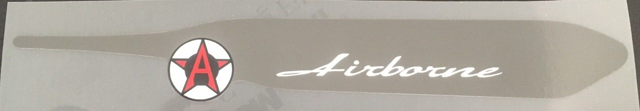Airborne Chain Stay Protector Decal - Clear