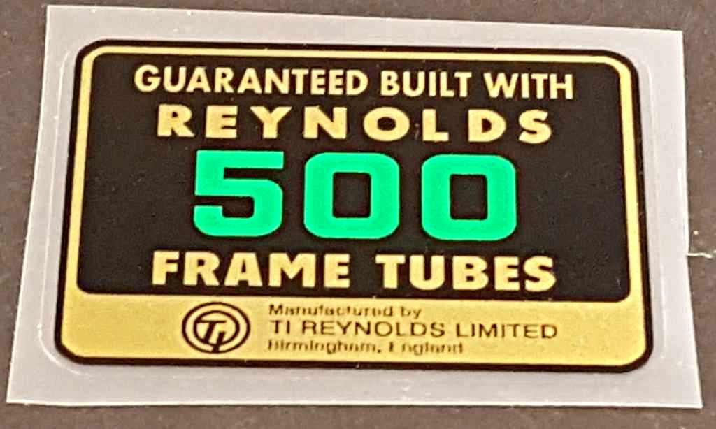 Reynolds 500 Tubing Decal