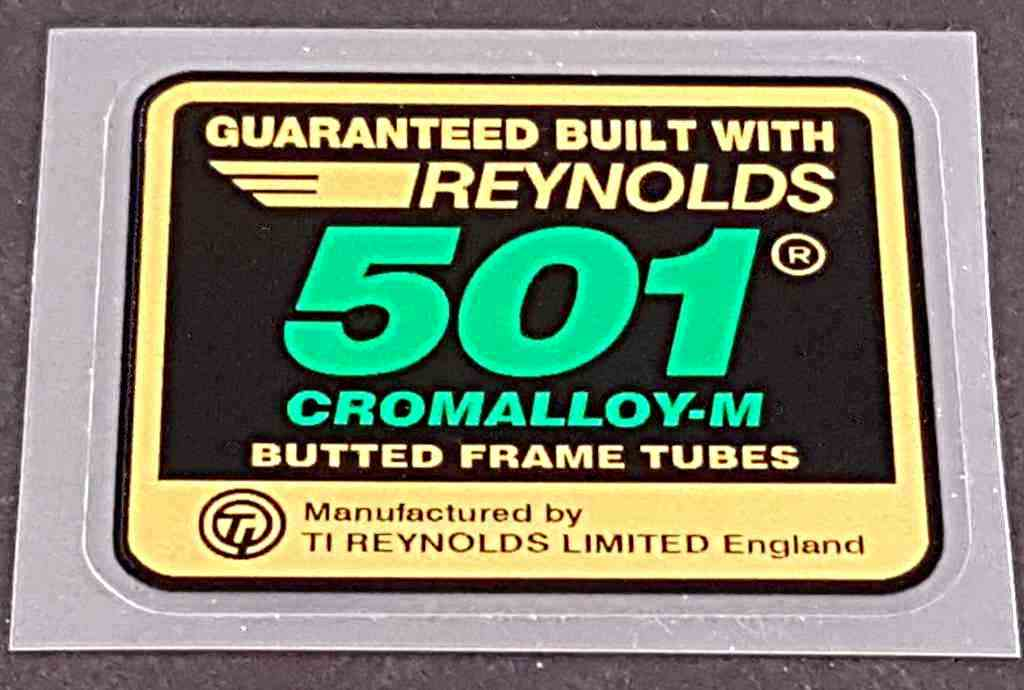 Reynolds 501 Cromalloy-M Tubing Decal - Green