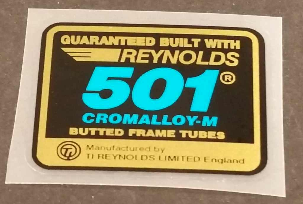 Reynolds 501 Cromalloy-M Tubing Decal - Blue