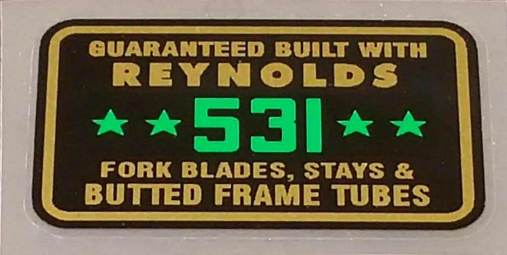 Reynolds 531 4-Stars Tubing Decal