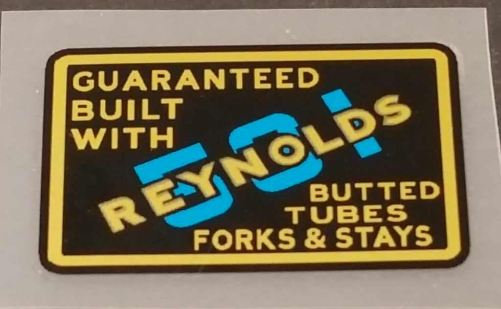 Reynolds 531 Tubing Decal - English - Blue