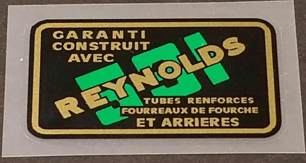 Reynolds 531 Tubing Decal - French - Green