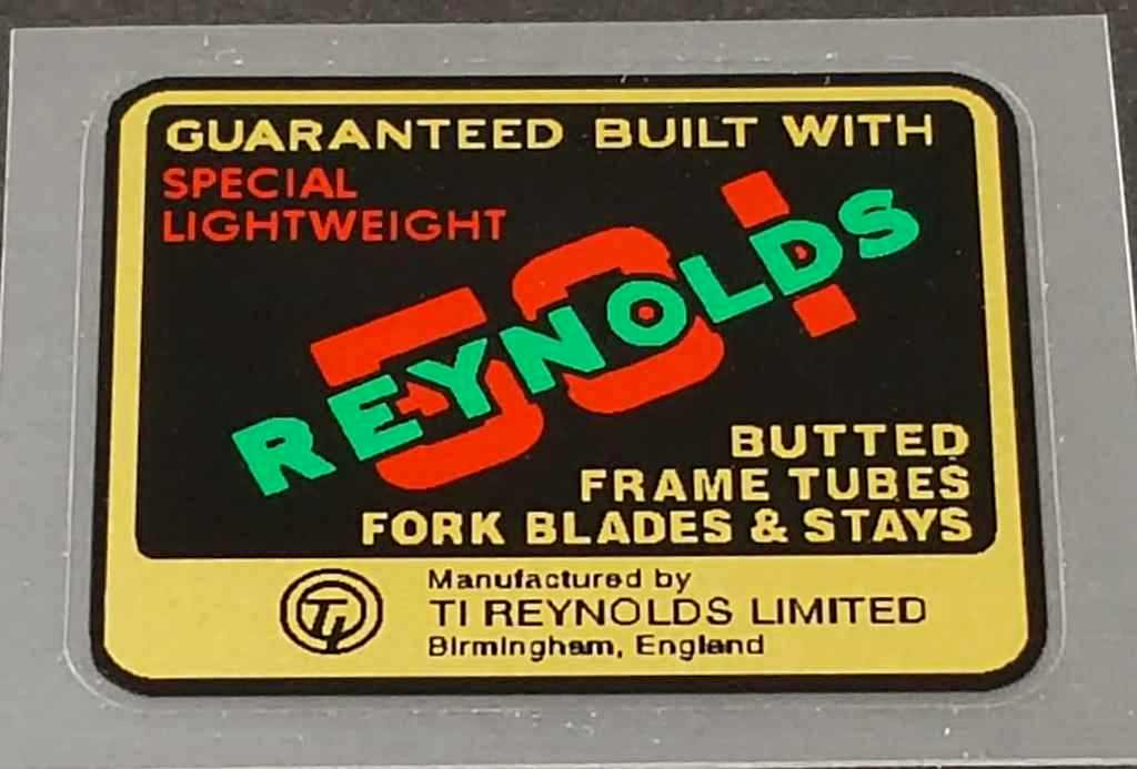 Reynolds 531 Special Lightweight Tubing Decal