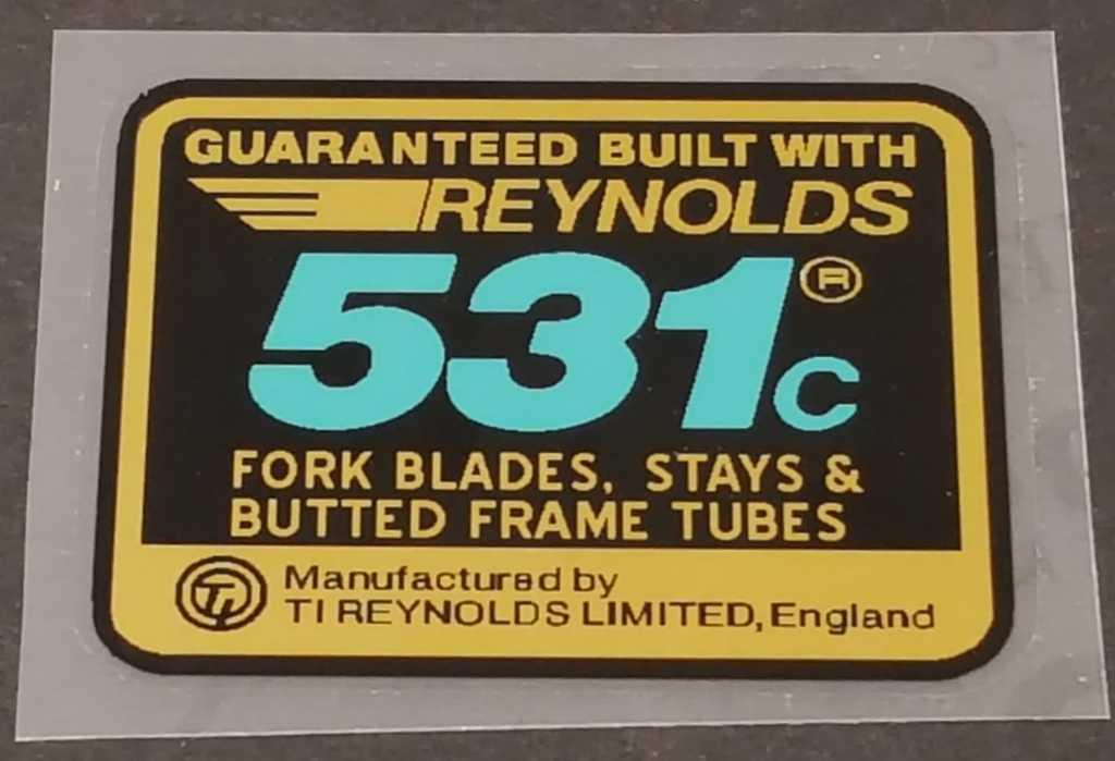 Reynolds 531c Frame Tubing Decal - English - Blue