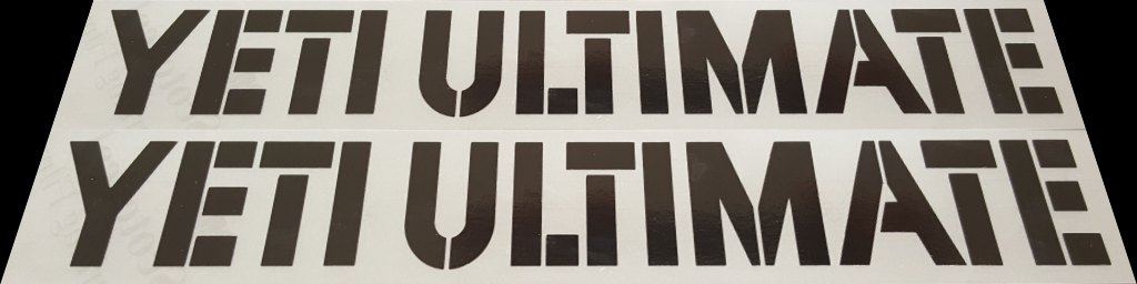 Yeti Ultimate Down Tube Decals - 1 Pair Close Cut Vinyl - Choose Color