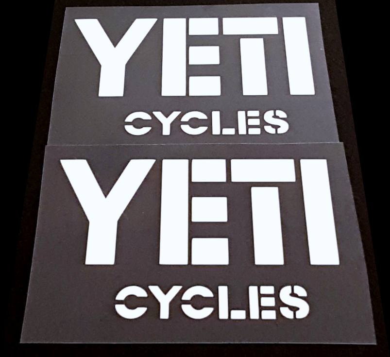 Yeti Cycles Down Tube Decals - 1 Pair Close Cut Vinyl - Choose Color