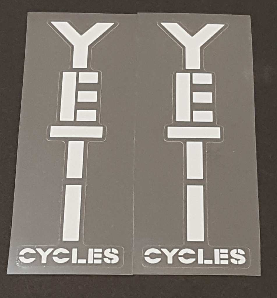 Yeti Cycles Stay Decals - 1 Pair Close Cut Vinyl - Choose Color
