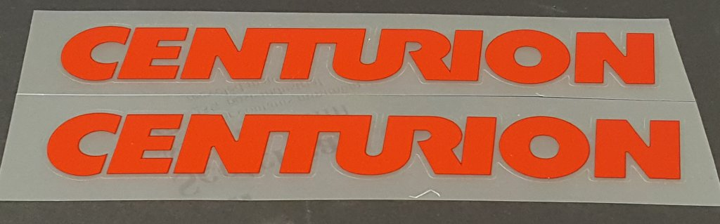 Centurion Down Tube Decals - 1 Pair  Cut Vinyl - Choose Color