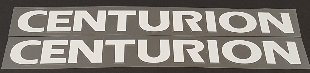 Centurion Down Tube Decals - 1 Pair Close Cut Vinyl - Choose Color