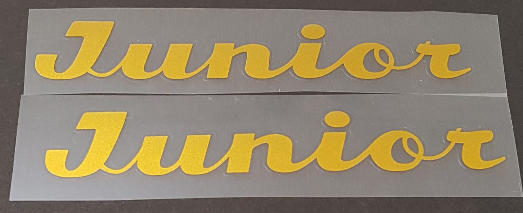 Fuji Junior Down Tube Decals  - 1 Pair - Cut Vinyl - Choose Color