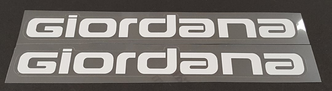 Giordana Down Tube Decals  - 1 Pair - Cut Vinyl - Choose Color