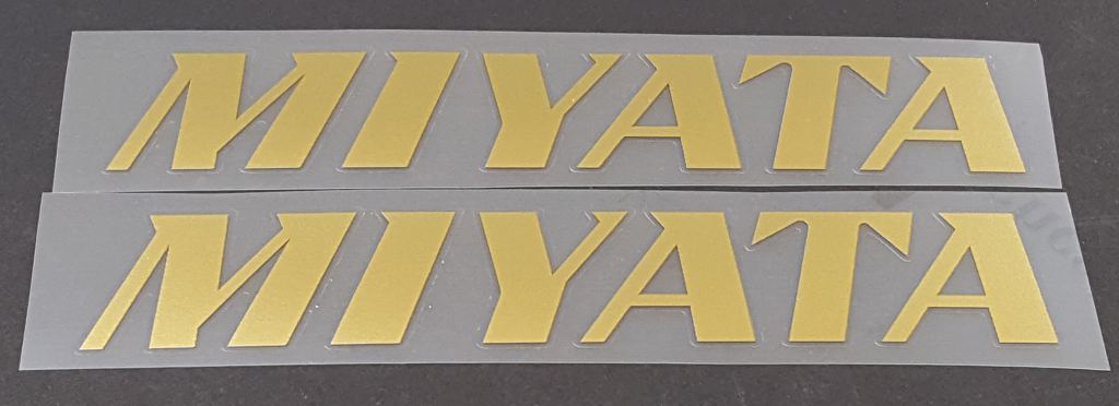 Miyata Down Tube Decals--1 Pair Cut Vinyl - Choose Color